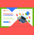 programmer and engineering concept landing web vector image vector image