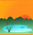 Reesd and lake vector image