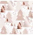 rose gold geometric xmas tree seamless pattern vector image vector image