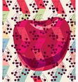 Seamless pattern background Cherries over abstract vector image vector image