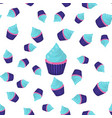 seamless pattern cupcake vector image vector image