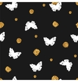 Seamless pattern with hand drawn butterflies and vector image vector image
