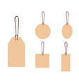 set blank gift box tags or sale shopping vector image vector image