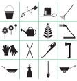 set icons garden tools vector image