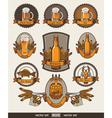 set of beer vector image vector image