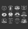 sewing and tailor icons vector image vector image