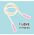 Skipping jumping rope I love fitness icon Sport vector image