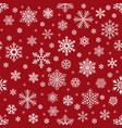 snowflakes pattern christmas falling snowflake on vector image