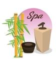 spa body care cream bamboo vector image vector image