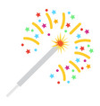 sparkler flat icon new year and christmas vector image