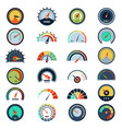 speedometer symbols level fuel rating indication vector image