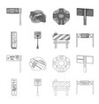 stands and signs and other web icon in outline vector image vector image