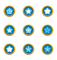 starlight icons set flat style vector image vector image