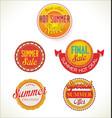 summer sale labels vector image vector image