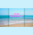 summer seashore blurred background blue sky sea vector image