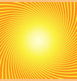 sunburst twist yellow orange background vector image vector image