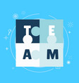 team work banner vector image vector image