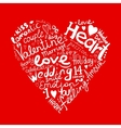 Valentine heart sketch for your design vector image vector image