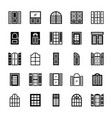 window shades solid icons vector image