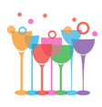 wine glasses t vector image vector image