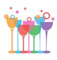wine glasses t vector image
