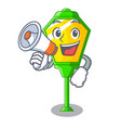 with megaphone lamps post collection in a cartoon vector image vector image
