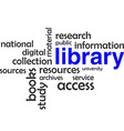 word cloud library vector image