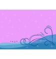 background sea waves vector image