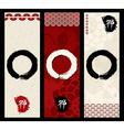 Zen circles banner set vector image