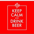 Keep calm and drink beer poster vector image