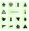 14 dangerous icons vector image vector image