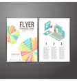 Abstract Brochure Flyer design mobile and desktop vector image