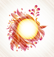 Abstract floral transparent vector image vector image