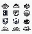 adventure logo badges 10 vector image vector image