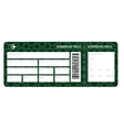 Airplane ticket blank vector image vector image