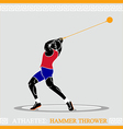 Athlete hammer thrower vector image vector image