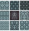 baroque floral pattern vector image vector image