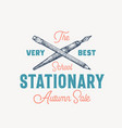 best school stationary abstract sign vector image vector image