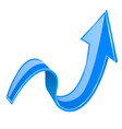 blue 3d up arrow vector image