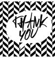 bw thank you message vector image