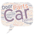 Car Body Parts text background wordcloud concept vector image vector image