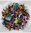 cartoon cute doodles back to school colorful vector image vector image