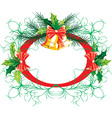 Christmas Frame with Bells vector image vector image