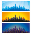 city at different times of day vector image