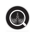 coffee cappuccino icon concept vector image vector image