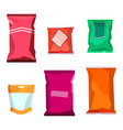 colorful blank boil food snack packaging for vector image