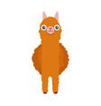 cute south american alpaca in front vector image vector image