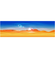 desert and rocky mountains vector image vector image