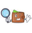 detective wallet character cartoon style vector image vector image