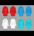 doctor coat colorful lab uniform doctor medical vector image vector image